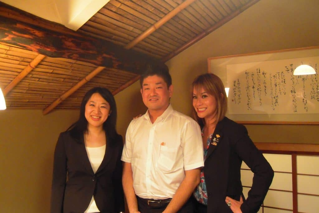 Informal discussion with the Mayor of Nara and Ohtsu, and a member of the Nara City Board of Education