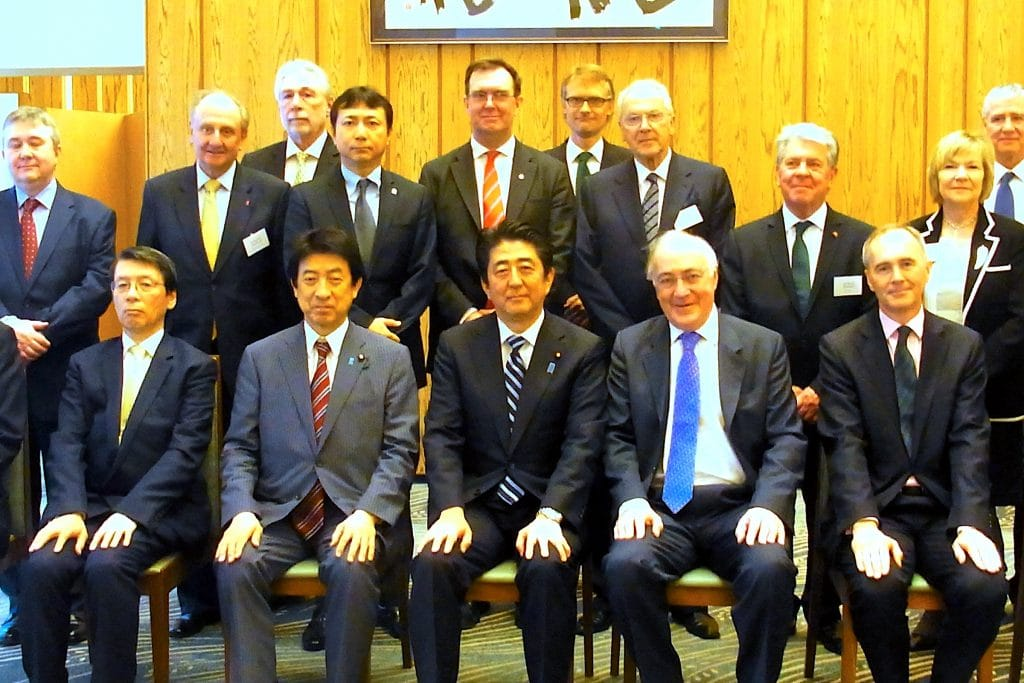 Group members from the UK meet with Prime Minister Abe