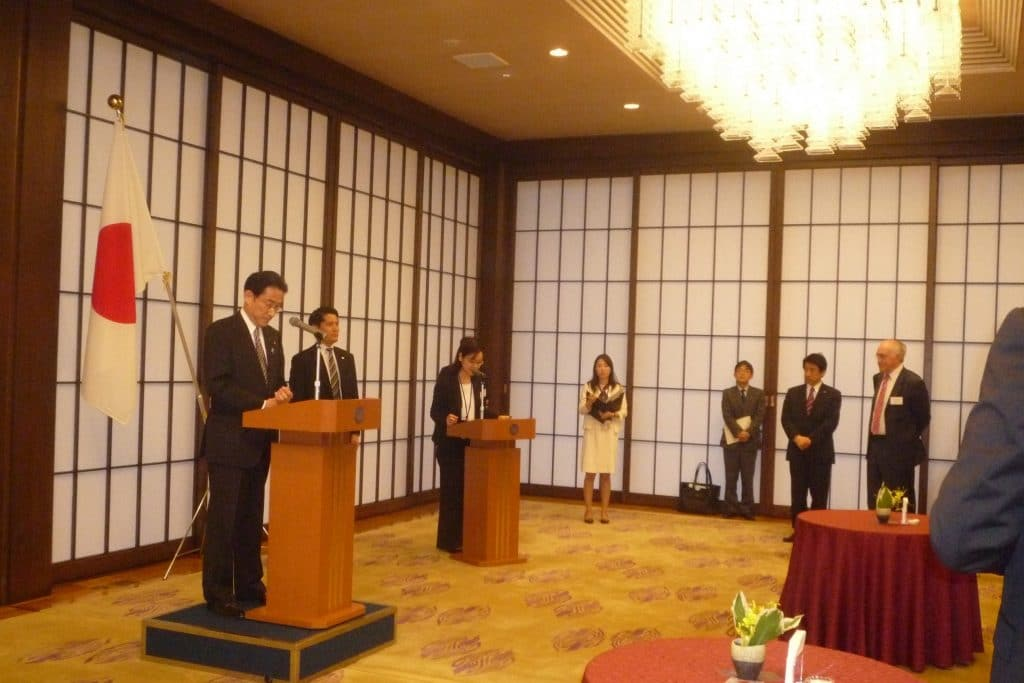 Foreign Minister Kishida welcomes UK-Japan 21st Century Group members