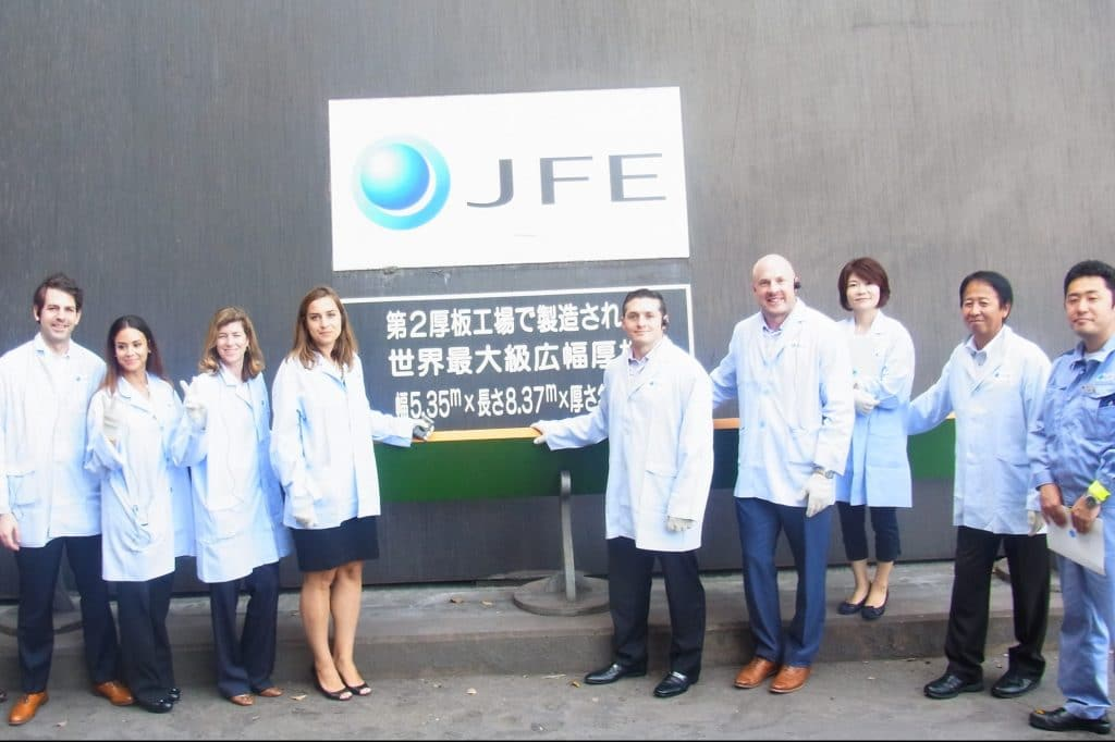 A site visit to the JFE Steel Corporation's Mizushima Plant in Okayama
