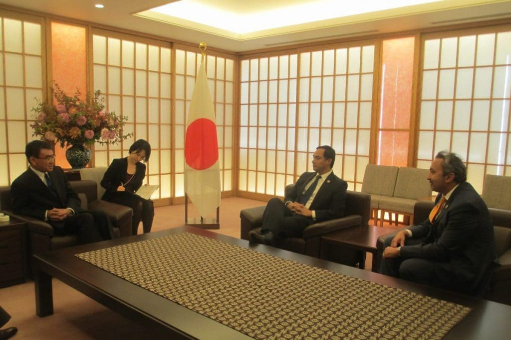 Meeting with Foreign Minister Taro Kono