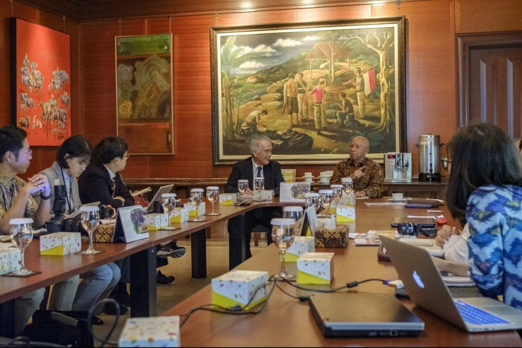 Arifin Panigoro,Chair Forum STOP TB Indonesia speaks about accomplishment and challenges in Indonesia at his office in Jakarta Thursday 29 November, 2018. (Jiro Ose / The Global Fund)